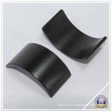 Aimants de NdFeB noir, carrelage matériau permanente de l'arc