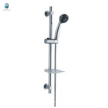KL-01 accesorios de baño de latón cromado profesional con ducha de mano redonda ducha de elevación de baño de pared