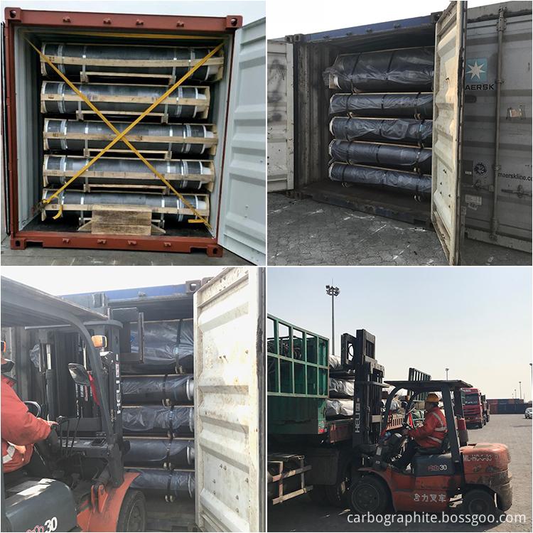 Graphite electrode shipment