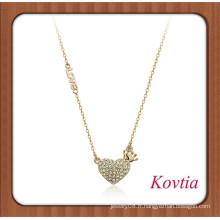 NOUVELLE lettre de mode aime le meilleur collier collier coeur coeur
