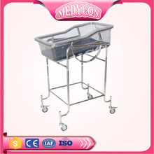 BDB03 Hospital Stainless newborn baby crib bed trolley