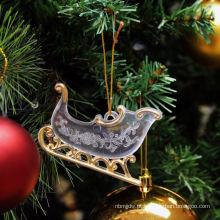 Glitter de plástico Decorações de Natal roxas e prateadas
