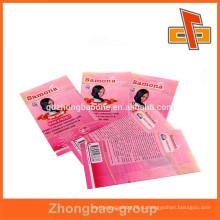 Быстрая доставка заказ печатных волос маслом бутылки этикетки оптом, сделанные в Китае