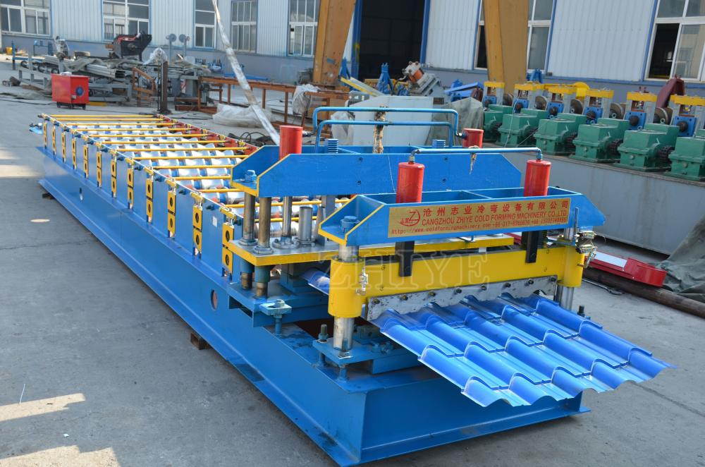 Cold Roof Aluminum Glazed Tile Roll Forming Machine