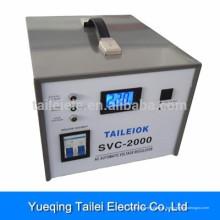 Estabilizador de tensão SVC-2000 com disjuntor, mostrador LCD