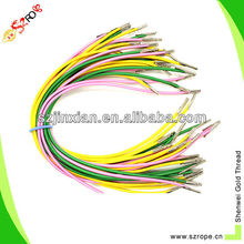 2.5mm colorful elastic cord with metal ends