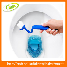 Escova da bacia Escova do toalete da borda Escova mini em forma de S