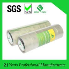 Bande d'emballage d'OPP / bande super claire d'adhésif / bande transparente de cachetage de carton