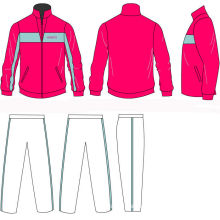 Oem Zipped  Jogging Suit Track Tops , Long Trousers Sportswear With Custom Printing Logos
