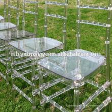 Chaise en résine en plastique pour mariage Tiffany