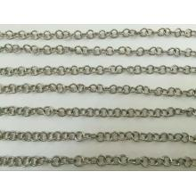 Silver stainless steel jewelry chains wholesale