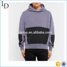 Overdyed usine vente directe deux tons en gros hoodies design baggy pour les hommes