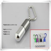 Portabler Aluminiumpillen-Kasten im Freien mit Keychain für Förderungs-Geschenk