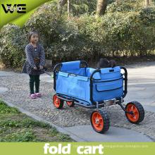 Chariot utilitaire pliable d'épicerie pliante de magasinage résistant