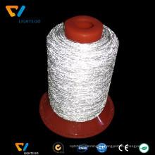 Eco-содружественный серебряный серый hivisibility светоотражающая нить для вышивки