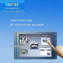 Exposição da propaganda do toque do quadro aberto de 19 polegadas