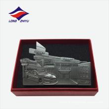 Suporte de cartão de nome de alta qualidade de liga de zinco de luxo