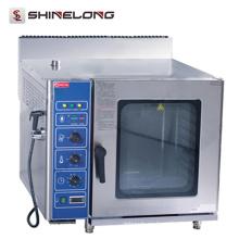 Restaurante Gas / Eléctrico profesional K025 Horno combi de gas comercial de alta calidad