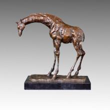 Статуя животного оленя / Жираф Бронзовая скульптура, Мило Тпал-171
