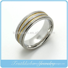 TKB-R0022 Fashion Imitation Jewelry Ring Stainless Steel New Gold Ring Models for Men