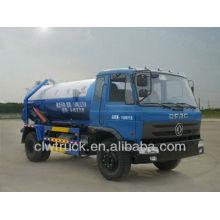 Dongfeng 4 * 2 aspirateur camion, camion d'aspiration d'eaux usées 9m3 à vendre
