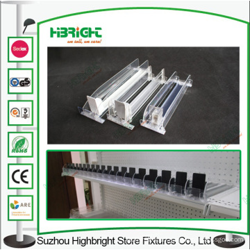 Plastic Display Pusher for Supermarket Shelves