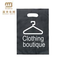 Logotipo impreso 100% biodegradable de Micron de la ropa impresa que empaqueta el bolso troquelado plástico reforzado de la manija del sacador