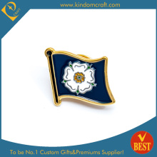 Flower Flag Pin Badge with Baking Finish From China