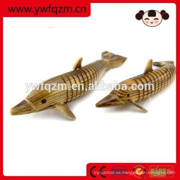 juguete delfín de imitación de madera de la decoración casera para los niños