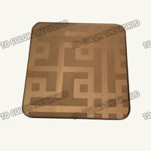 Feuille gravée par Ket004 de l'acier inoxydable 304 pour des matériaux de décoration