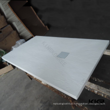 White resin stone shower tray , anti slip stone shower tray