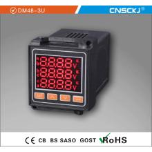 Voltímetro del metro de voltaje trifásico de la CA de la CA con RS-485 Dm48-3u
