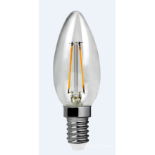 À incandescence LED lumière C30-Cog-2W 220lm 2PCS Filament brackets en céramique