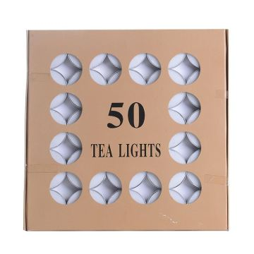 Turki 14g Box Pack Unscented Lleen Tealight