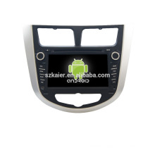 Quad core!car dvd with mirror link/DVR/TPMS/OBD2 for 7inch touch screen quad core 4.4 Android system Hyundai Verna/Solaris
