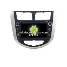 Quad core! Dvd do carro com link espelho / DVR / TPMS / OBD2 para 7 polegadas tela sensível ao toque quad core 4.4 sistema Android Hyundai Verna / Solaris