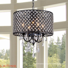 Crystal Chandelier Pendant Light with Crystal Beaded Drum Shade 71143