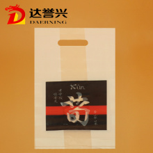 HDPE Die Cut Bag with Black-and-red Logo