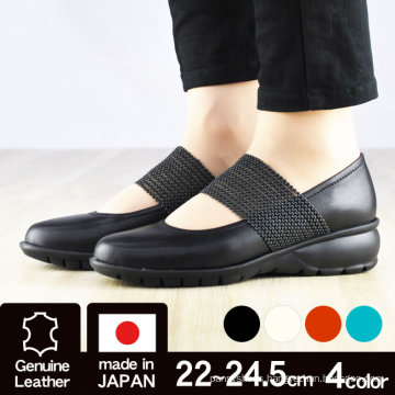 Made in Japan Flat shoes with instep belt