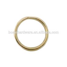 Moda de alta qualidade de metal bronze anel redondo soldado