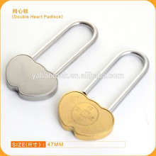 long shackle double heart padlocks