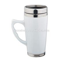 16oz Keramiktasse, Stahl Kaffeebecher Travel Mug