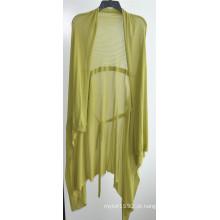 100% algodão senhoras de manga comprida Opean Knit Cardigan