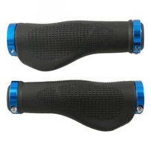 Blå Ergonomisk Soft Rubber Bike Handlebar Grip