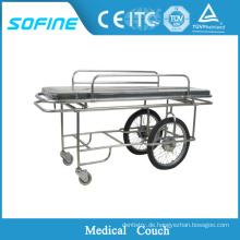 SF-DJ130 Edelstahl Krankenhaus Ambulance Stretcher mit Rad
