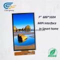 """7"""" 600 (RGB) X1024 40 Pin LCD Display Module"""