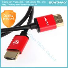 Alta velocidad 1.4V chapado en oro Plug 1080P macho-macho Cable HDMI