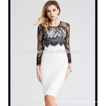 2017 New fashion spring sexy laced women formal dress with cheap price