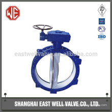 Pneumatic soft seal butterfly valve with