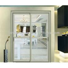 Interior Aluminum Sliding Door with Glass, Living Room Glass Doors